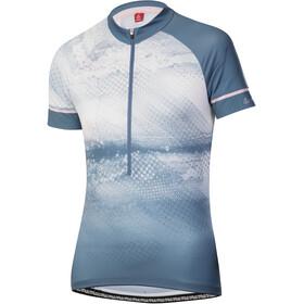 Löffler Grunge Half-Zip Bike Jersey Women, blauw